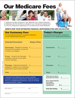 Medicare Fees Handout Chiropractic Medicare Form