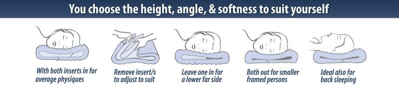 Complete Sleeper Plus Adjustable Memory Pillow Creative