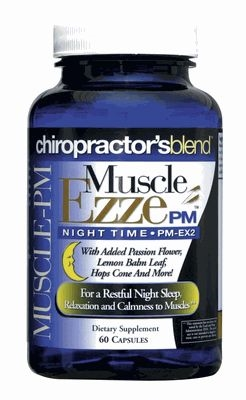 Muscle Ezze Pm Natural Muscle Relaxant Sleep Aids